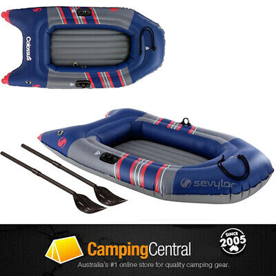 Sevylor Colossus 2P Person Inflatable Boat With Oars Blow Up