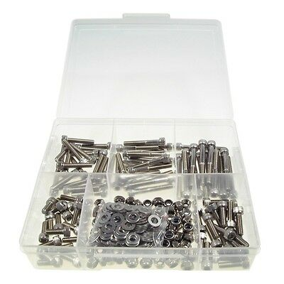Qty 270 Socket Cap Screw Kit M6 304 Stainless Allen Screw Bolt Nut Washer #9