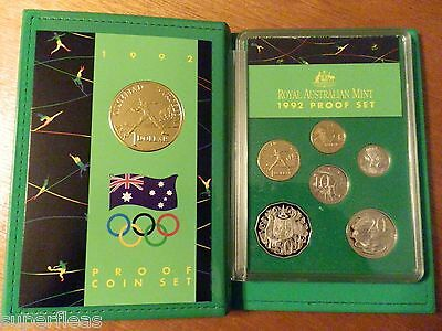 RAM 1992 Proof Coins 6 coin set New $1 Barcelona Olympic Games coin COA & box