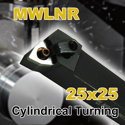 Indexable CNC Turning Lathe Tool Holder MWLNR 2525 M08 25x25mm Shank Cylindrical