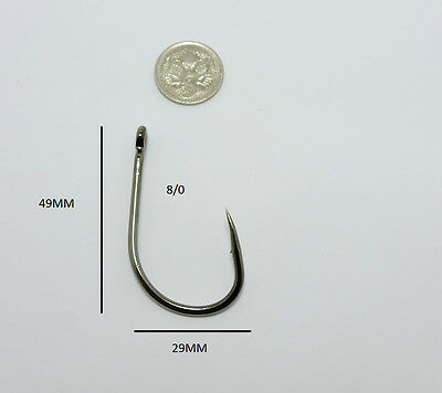 50 x 8/0 LIVE BAIT HOOKS CHEMICALLY SHARPENED OCTOPUS FISHING HOOK