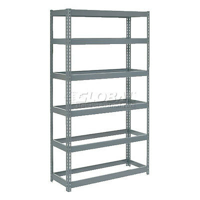 """Extra Heavy Duty Shelving 48""""W x 18""""D x 96""""H With 6 Shelves, No Deck"""