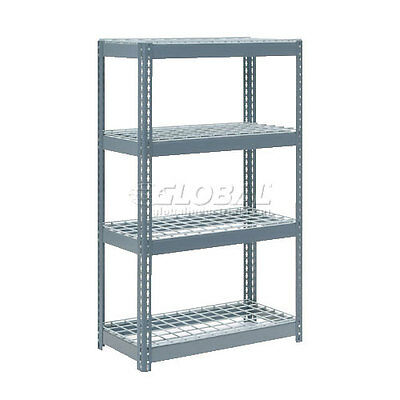 """Extra Heavy Duty Shelving 36""""W x 24""""D x 60""""H With 4 Shelves, Wire Deck"""
