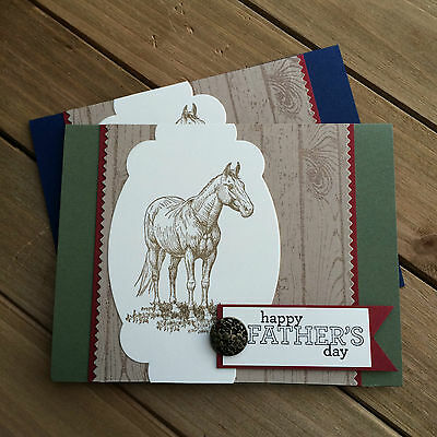 HELLOMIMICARDS - Handmade Greeting Cards - Happy Fathers Day w/ Horse