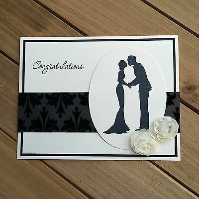 HELLOMIMICARDS - Handmade Greeting Cards - Black and White Wedding