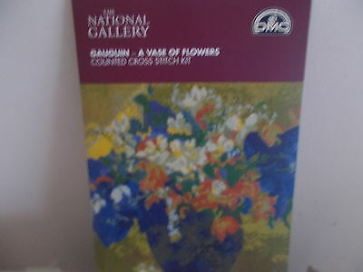 Dmc National Gallery Collection Gauguin A Vase Of Flowers Cross Stitch Kit