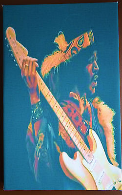 Jimi Hendrix On Canvas