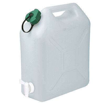 10L Litre Plastic Jerry Can With Pouring Tap Water Container Carrier Bottle
