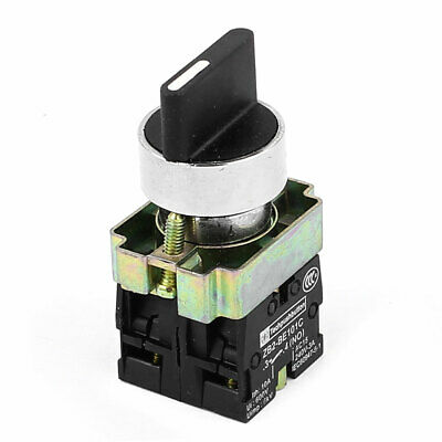 ZB2-BE101C AC 600V 10A 6KV DPST 2NO 3-Position Latching Rotary Selector Switch