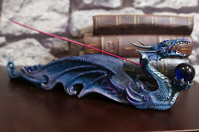 Sea Oceanic Dragon Guardian Stick Incense Holder Burner Fantasy Gift Figurine