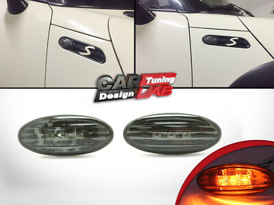Smoke LED Side Markers Turn Signal Lights Fits 01-06 Mini Cooper R50 R52 R53 S