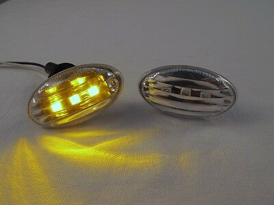 Clear LED Side Markers Turn Signal Lights Fits 01-06 MINI COOPER R50 R52 R53 S