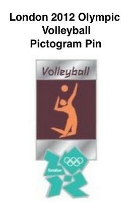Volleyball Olympic Pin Badge~2012~Pictogram~New~Mounted~Card & Sealed