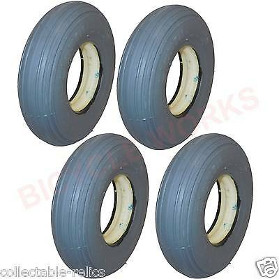 200X50 Solid Wheelchair Tyres Grey Trolley Mobility Scooter 200 x 50 Foam 4PR