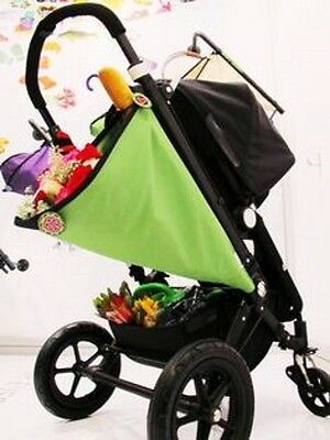 Elephant And Apple Fold Away Stroller Bag - (Green) Space Saver / Shopping Baby