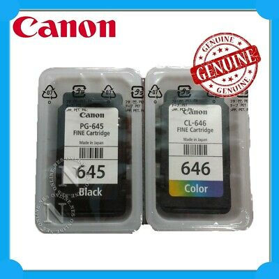 Canon Genuine PG645+CL646 TWIN PACK UNBOX Ink>MG2560/TR4560/TS3160/TS3165/TS3166