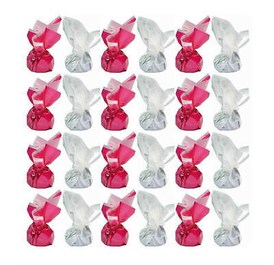 1 Kg Hot Pink And White Foil Dark Chocolate Truffles - Wedding Favours Parties