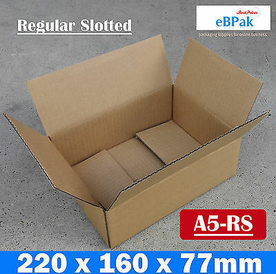 #A5-RS 50 220x160x77mm A5 BX1 SIZE Mailing Box - Brown Regular Slotted Carton
