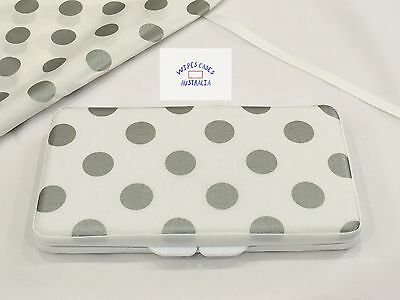 White With Silver Dots Baby Wipes Case