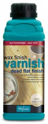 Polyvine Wax Finish Varnish Dead Flat Finish 500ml Clear Furniture Protection