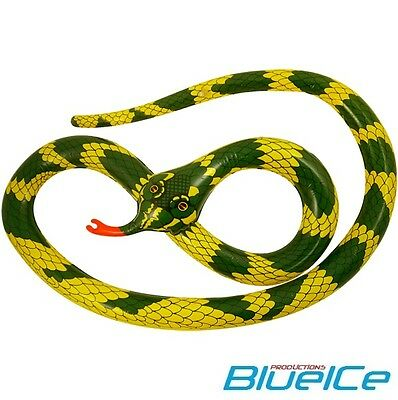 Inflatable SNAKE Children Boy Girl Blow Up Toys Stag Party Fancy Dress Kids Play