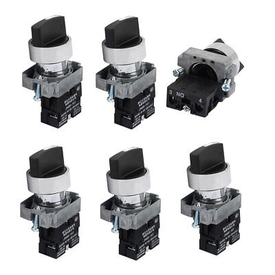 AC 415V 10A Latching 1NO 2 Positions Rotary Selector Switch 6PCS