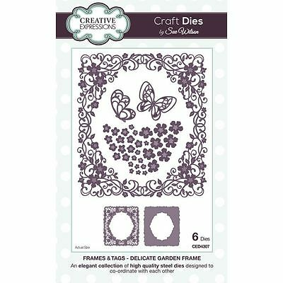 Craft Dies by Sue Wilson - Frames & Tags Collection - Delicate Garden Frame (CED