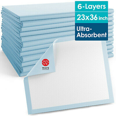 600 Pads Adult Urinary Incontinence Disposable Bed pee Underpads 23x36
