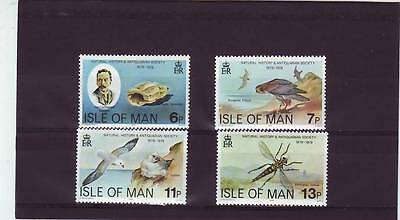 a101- ISLE OF MAN - SG144-147 MNH 1979 CENTENARY NATURAL MUSEUM SOCIETY