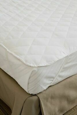 MATTRESS PROTECTOR TOPPER UNDERLAY HOTEL QUALITY KING SINGLE BED WHITE 107x203CM