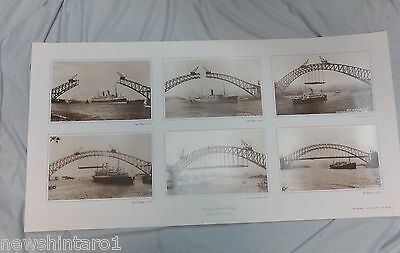 #ll6.  100 Sydney  Harbour  Bridge  Construction  Posters - Pickup Or Local Only