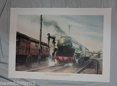 Approx. 120 Australian Railway  Posters - 3801  Simmering At  Harden, Pickup