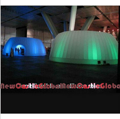 """22'12""""Width 8'6""""H LED inflatable dome tent display trade show igloos with blower"""