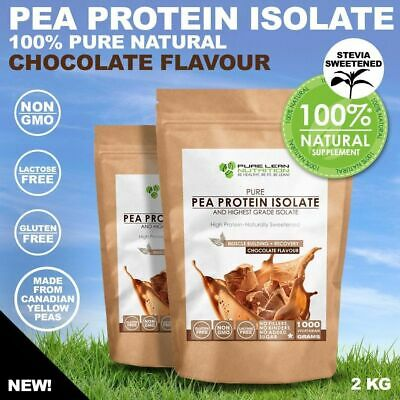 2Kg Chocolate Pea Protein Isolate Vegan Natural Lactose Free Canadian Peas
