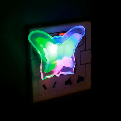 New Butterfly Night Light Lamp Lovely Home LED Bedside Night Light Lamp FE