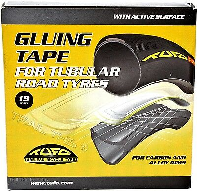 TUFO Gluing Tape Road Bike 700c Tubular Tires / Carbon Alloy Sew Up 19mm x 2M