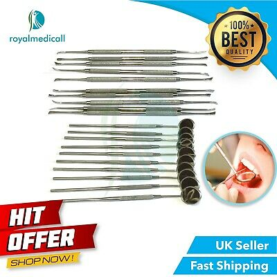 Pro DENTAL MOUTH INSPECTION MIRRORS with Handle & Scrapers 20PCS SET BY MAQNSCO