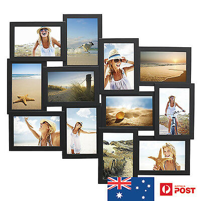 Unigift 12 In 1 Wooden Collage Photo Frame Pacific Black - New Mum Xmas Gift
