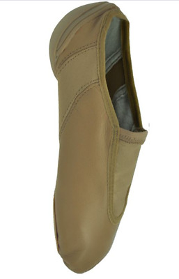 Tan Starlite Runaway hybrid split sole slip on jazz shoes
