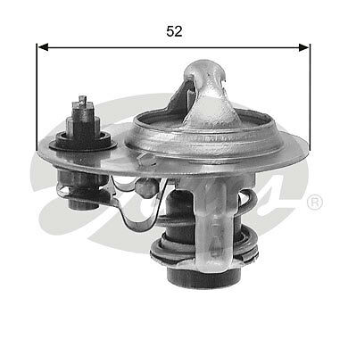 Gates Thermostat coolant TH30688G1 Fit with Mazda 323