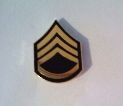 U.S. Army Staff Sergeant Rank Hat Pin  1 1/8""