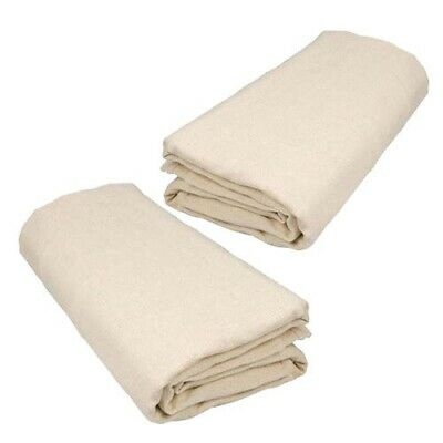 2 x LARGE DECORATORS COTTON TWILL DUST SHEET PAINTERS DUSTSHEET COVER 3.5 x 2.6m