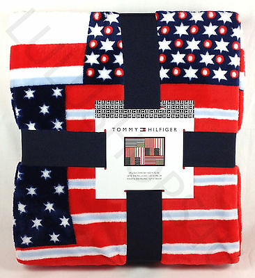 cf421316 Tommy Hilfiger USA red white blue American 50 x 70