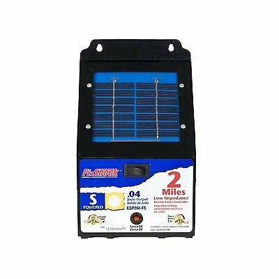 Fi-Shock ESP2M-FS 2 Mile Solar Powered Low Impedance Pet Fence Energizer
