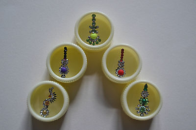 Fancy indian bindis multicoloured, gem adhesive bridal head BEST QUALITY