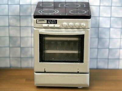 Dolls House Miniature 1/12th Scale Silver Electric Cooker non working miniature