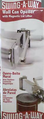 Swing A Way White Wall Mount Can Opener 609W