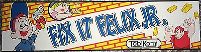 "Fix It Felix Jr Arcade Marquee 22.3""x5.8"""