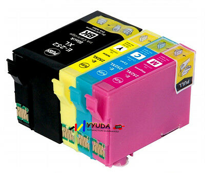 10x Ink Cartridges for Epson 252XL 252 Workforce WF 3620 WF 3640 WF 7610 WF 7620