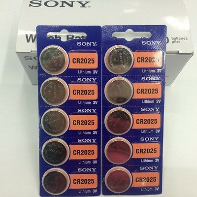 **FRESHLY NEW**10x SONY CR2025 Lithium Battery 3V Exp 2028+ Pack 10 pcs Coin Cel
